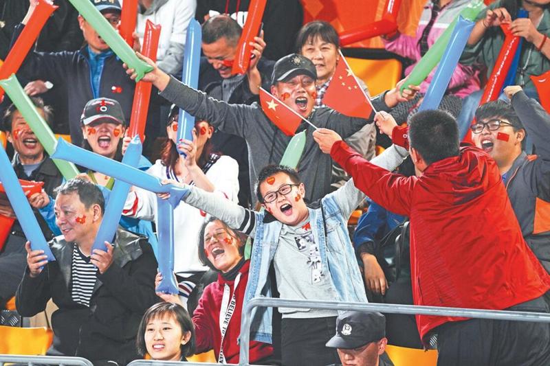 汇成中国交响 爱国情在第七届世界军人运动会赛场内外激荡