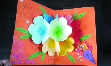 武汉中小学生手工新年贺卡
