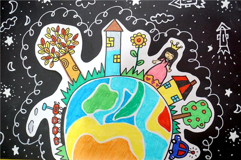 童话新时代 武汉儿童手绘社会主义核心价值观