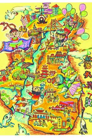 武汉14幅作品入围全国少儿手绘地图大赛