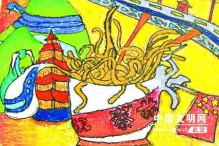 济南如画胜生物--中小学生描绘《江城印象》(上武汉初中版知识点丹青图片